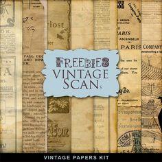 New Freebies Kit of Vintage Papers