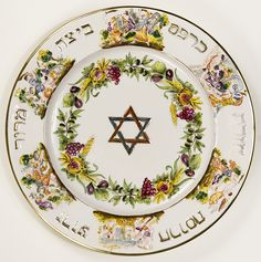 Passover Seder Plate [2000.29.2] by MagnesMuseum, via Flickr