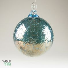 Blown Glass Christmas Ornament Suncatcher Deep by wolfartglass, $25.00
