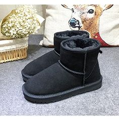 winter Snow boots women Warm boots casual shoes boots flat >>> To view  further