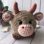 Amigurumi Doll Pattern, Crochet Doll Pattern, Crochet Diagram, Crochet Dolls, Crochet Cow, Easter Crochet, Crochet Crafts, Crochet Animal Patterns, Stuffed Animal Patterns