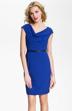 Calvin Klein Belted Cowl Neck Woven Dress available at #Nordstrom