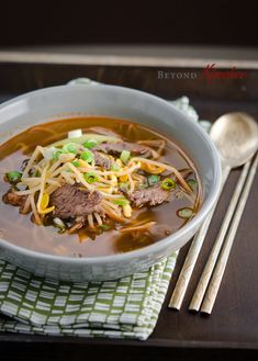 Beef and Bean Sprout Soup | Beyond Kimchee looks so delicious