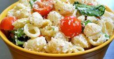 Αυτή είναι η κορυφαία σαλάτα ζυμαρικών σύμφωνα με το Pinterest! Healthy Pasta Salad, Easy Pasta Salad Recipe, Easy Salad Recipes, Lunch Recipes, Garlic Pasta, Salad Bar, Roasted Garlic, Greek Recipes, Pasta Dishes