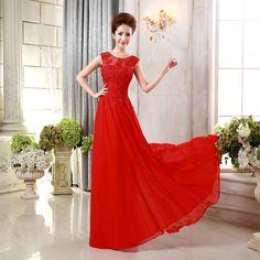 Aliexpress.com: Comprar F Pour Homme nuevo rosa dulce italiano vestido de encaje rojo larga sección de la novia ropa tostada de la boda vestido de dama de honor de vestido patern fiable proveedores en laurelmary bridal store