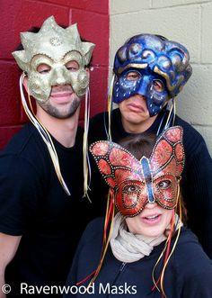 masquerade masks by Ravenwood Masks