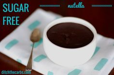 Try this super simple version of a sugar free nutella. It is incredibly simple to make and uses walnuts rather than roasting and removing the skin from hazelnuts.