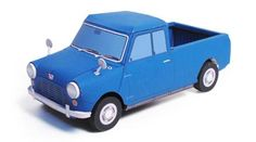 Austin Morris Mini Pick Up Paper Car - by Kamaboko -- A nice paper model of a…