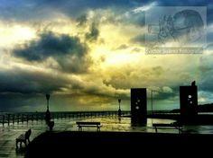 Nubes de tormenta sobre Las Chaponas de Gijón. #turismo #asturias #storm #tormenta