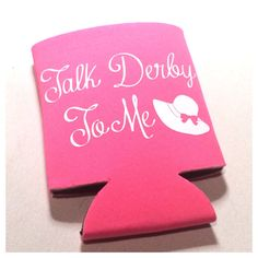 This koozie is perfect! Keep calm and derby on! Rep this koozie all year and of course at your derby get together! This is a foam koozie
