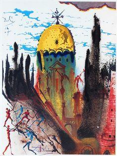 Salvador Dali's illustrations of Don Quixote