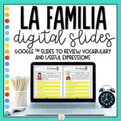 Distance Learning - Family in Spanish - La familia Digital Slides Vocabulary In Context, Vocabulary Practice, Vocabulary List, Vocabulary Worksheets, Family In Spanish, Family Theme, Reading Activities, Upper Elementary, Interactive Notebooks