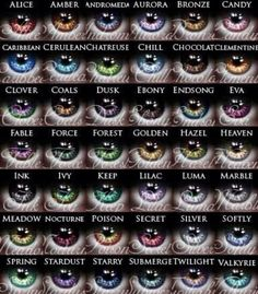 Eye colors @cacaoamour What is the color of the protagonists eyes in your dystopian?