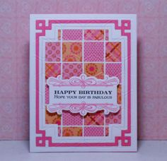 no-sew quilted birthday card