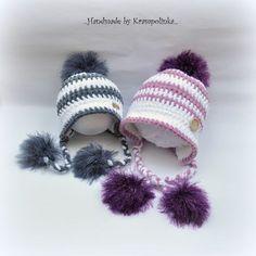 Tak jsem konečně měla možnost vrátit se ke kulišance. K čemu? No přeci k čepičce, která není ani kulíškem, ani ušankou. Je to něco mezi. Tvarově spíš kulíšek s výhodami ušanky. Vzadu se neroluje, kryje pohodlně ouška a dá se zavazovat. Co více si z praktického hlediska pro miminko přát. No a Winter Hats, Crochet Hats, Cap, Knitting, Fashion, Knitting Hats, Baseball Hat, Moda, Tricot