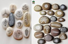 Right now I bring you some examples of a stone can give far more than a stone, particularly if you have a tiny imagination and colorful paintings. Stone Art Painting, Seashell Painting, Rock Painting Designs, River Rock Crafts, Rock And Pebbles, Stone Crafts, Colorful Paintings, Pebble Art, Painted Rocks