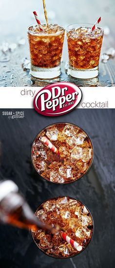 A fun summer drink takes just like Dr Pepper, this Dirty Dr Pepper Cocktail is refreshing and smooth with a hint of caramel and cinnamon that makes it the perfect crowd-pleasing cocktail.