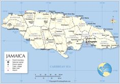 Eastern Europe Map, World Map With Countries, Jamaica Map, Runaway Bay, Discovery Bay, Island Nations, Montego Bay, Caribbean Sea, Travel Information