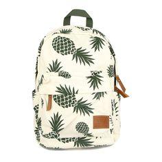 Vintage Fashion Causal Backpacks for Teenage Girls High Quality Canvas Laptop Backpack Pineapple Fruit Prints Women Rucksack