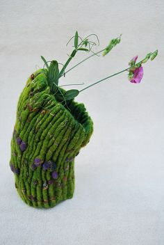 felted vessel by Sassafrasdesign (Claudia Burkhardt)