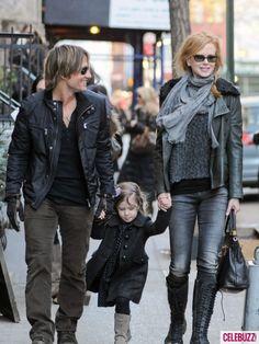 Nicole Kidman, Keith Urban & Daughter Sunday Take a Stroll in Soho