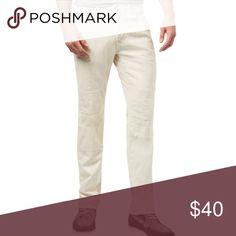 68817d4a3 Tommy Hilfiger Off White Straight Leg Jeans NWT Tommy Hilfiger Mens Cali  Patchwork Straight Leg Jeans