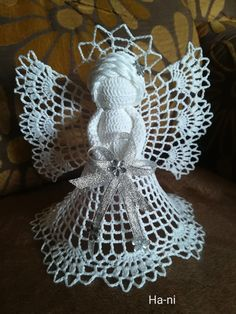Crochet Angels, Crocheting, Crochet Earrings, Angeles, Christmas, Christmas Ornaments, Ganchillo, Crochet Hooks, Yule