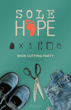 Shoe Cutting -- cut old jeans into shoes for children