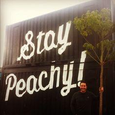 Stay peachy! | The Minimalist pop up store, Sydney
