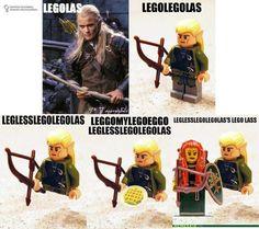 Leggomylegoeggo, leglesslegolegolas! love it