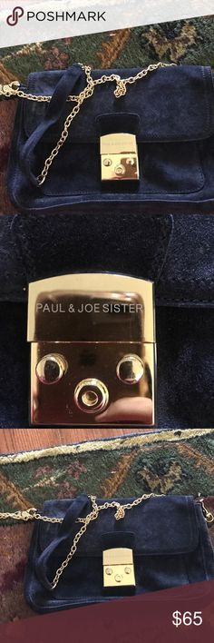 Used once Paul and joe sister purse Bought this purse from Nordstrom for 280$ it's navy blue in perfect condition my daughter used it once it has long straps.  111/2 by 7 inches these measurements don't include the handles.  C13 paul and joe sister Bags Crossbody Bags