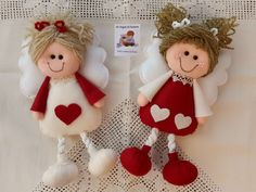 1 million+ Stunning Free Images to Use Anywhere Diy Christmas Ornaments, Christmas Colors, Christmas Angels, Christmas Decorations, Felt Crafts, Crafts To Make, Crafts For Kids, Homemade Dolls, Christmas Accessories