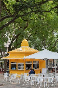 Lisboetas Lisbon City, Portuguese Culture, Constantino, Shops, Kiosk, Gazebo, Outdoor Structures, Patio, Mustard