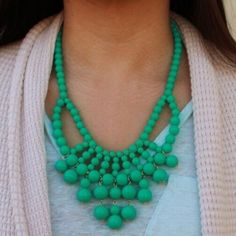 """NEW T&J DESIGNS GREEN BEADED STATEMENT NECKLACE NEW! ⭐️AS SEEN ON ALI FEDOTOWSKY⭐️Green statement necklace from t+j designs from the poshmark wholesale portal! 18-21"""" adjustable. Lobster claw closure. Resin. MSRP $32NO TRADES OR QUESTION COMMENTS FROM NON SERIOUS BUYERSDO NOT BUNDLE UNLESS YOU INTEND TO BUYDO NOT LOWBALL & NO PRICE COMMENTSPRICE IS REFLECTED ON PM FEES AND HOW MUCH I PAID T&J Designs Jewelry Necklaces"""
