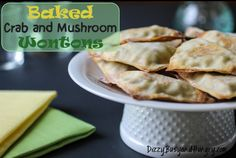 Baked Crab and Mushroom Wontons - Hand-held, kid-friendly, nutritious and delicious! (And grown-ups love them, too!)