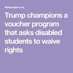 Trump Champions Voucher Program That >> 87 Best Trump Education Images In 2017 Betsy Devos Public