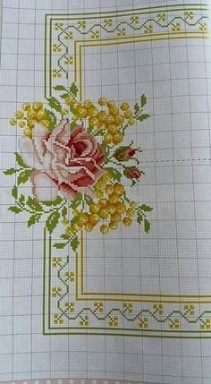 This Pin was discovered by Özn Russian Cross Stitch, Cross Stitch Rose, Cross Stitch Borders, Cross Stitch Flowers, Cross Stitch Designs, Cross Stitching, Cross Stitch Patterns, Cutwork Embroidery, Cross Stitch Embroidery