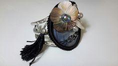 bracelet soie peinte  ,inspiration polynesienne ,droits réservés iletaitunesoie, pièce unique