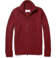Maison Martin Margiela Trucker Zip-Up Wool Cardigan   MR PORTER