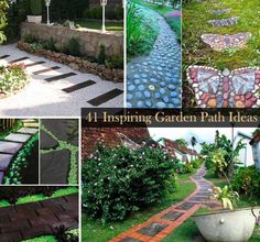 garden path and walkway ideas. fresh diy garden paths and backyard walkway ideasthe garden glove Garden Paths, Lawn And Garden, Garden Art, Path Design, Garden Design, Zen Design, Home Design, Design Ideas, Interior Design