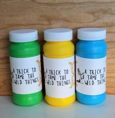 This is a listing for a where the wild things are pdf bubble bottle sleeves. It's an instant download and you may print as many as you need. Prints 4 labels per page. Just print, cut and tape onto your bubble bottles for a fun activity idea at your where the wild things are theme party or as birthday party favors.