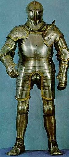 Suit of armour worn by King Henry VIII approximately 1540, noticeably bigger than that of in his early 20's. New research has shown that by the age of 45, Henry VII's weight had started to balloon as he suffered increasingly from chronic constipation and his body succumbed to hideous sores and repeated infections   Read more: http://www.dailymail.co.uk/news/article-1134222/King-size-Henry-VIIIs-armour-reveals-52in-girth--paid-terrible-price.html#ixzz3PbeoHV4P