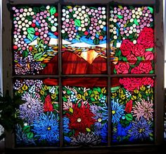 View to Paradise - Glass on Glass Mosaic by Barefoot in the Glass