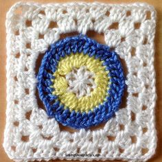 Tackle your next granny square pattern head on. The Charming Bullseye Granny Square in unique, simple, and best of all, easy. This crochet circle pattern inside a square gives a dynamic look that is fun to crochet.