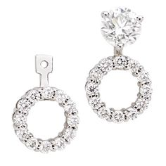 14kt White Gold Diamond Earring Jackets Earrings