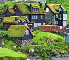 Grass Roof Village, The Faroe Islands photo via. - handa Grass Roof Village, The Faroe Islands photo via silvia (via variousforms) Places Around The World, Oh The Places You'll Go, Places To Travel, Around The Worlds, Travel Destinations, Wonderful Places, Beautiful Places, Amazing Places, Kingdom Of Denmark