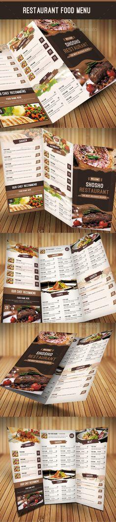 Restaurant Menu Template #FoodMenu #Template #Designs