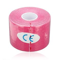 ELOS-1 Roll Spieren Care Fitness Athletic Gezondheid Tape 5 M * 5 CM-Rose Rood