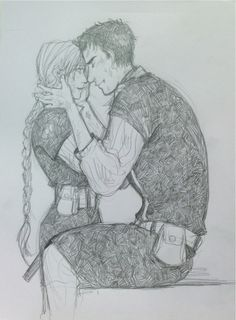"""""""Marry Me"""" Beka Cooper and Farmer Cape from Mastiff by Tamora Pierce --drawn by Minuiko"""