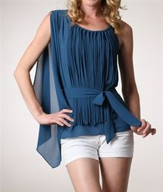 Solid Pleated Top
